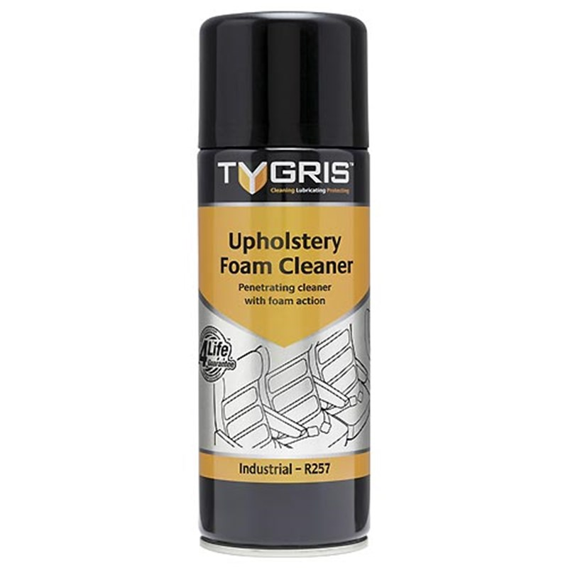 TYGRIS Upholstery Foam Cleaner, 400ml aerosol