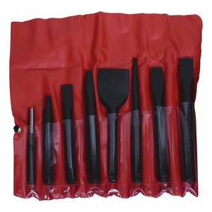 8 piece Heavy Duty Cold Chisel & Punch Set