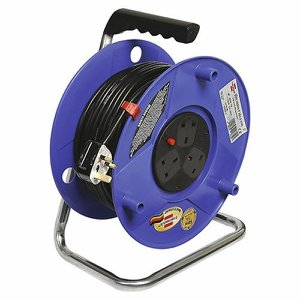 50m (164ft) Heavy Duty Cable Reel with safety cut...