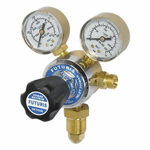 Single Stage Oxygen Regulator c/w gauges