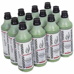 12 x 1 litre Bottles of Tyre Guard c/w valve