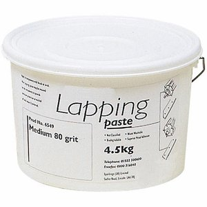 80 Grit Medium Lapping Paste, 4.5kg