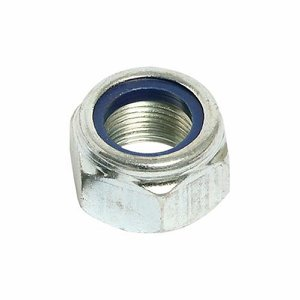 M12 Coarse Thread Hexagon Nylon Insert Nut (Pk 25)