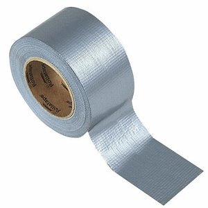 75mm x 50m Silver Waterproof Cloth Tape