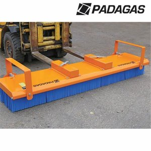 2.4m PADAGAS Mk3 Push-Broom c/w Fork Lift Tine Po...