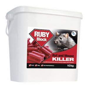 RUBY Block Bait Rat Poison (Difenacoum), 10kg