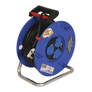 40m (131ft) Heavy Duty Cable Reel with safety cut...