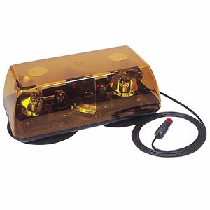 12/24 Volt Magnetic Halogen Amber Light Bar