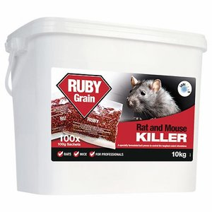 RUBY Throw Bag, Whole Grain Rat Poison (Difenacou...