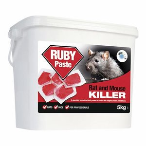 RUBY Soft Paste Sachet Rat Poison (Difenacoum), 5...