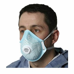 FFP2 Moulded Disposable Dust Mask with Valve (Pk ...