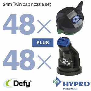24 Metre Twin Cap Nozzle Set (consists of: 48 x 1...