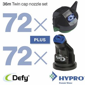 36 Metre Twin Cap Nozzle Set (consists of: 72 x 1...