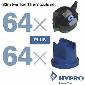 32 Metre Twin Fixed Line Nozzle Set (consists of:...