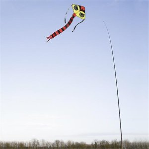 Bird Scaring Hawk & Mini Kite Kit c/w 7m Extendab...