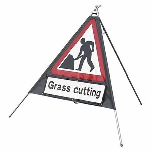 750mm Portable Road Works Sign c/w 3 supplementar...