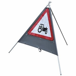 'Tractor' Road Sign (with plate provision)