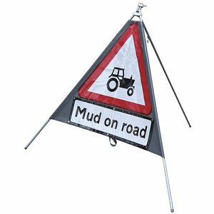 750mm Portable Tractor Road Sign c/w 3 supplement...