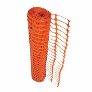 Poly Barrier Fencing Mesh, Orange, 1m x 50m roll