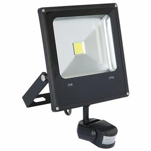30W LED Low Energy PIR Security Floodlight (glass...
