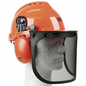 Oregon Forestry Helmet c/w Metal Mesh Visor and E...