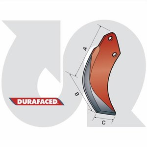Durafaced® RF Rotorvator Blade R.H.
