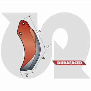 Durafaced® RF Rotorvator Blade L.H.