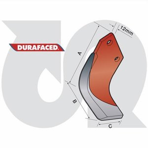 Durafaced® H/Duty 'L' Blade R.H. (12mm thick)
