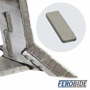 FEROBIDE Weld-on Tile 15mm x 40mm x 4mm Thick (Pk...
