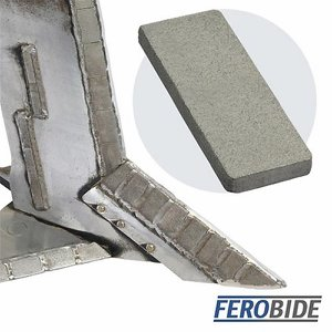 FEROBIDE Weld-on Tile 25mm x 60mm x 6mm Thick (Pk...