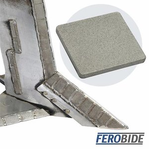 FEROBIDE Weld-on Tile 40mm x 40mm x 4mm Thick (Pk1...
