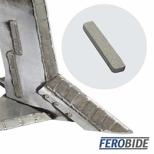 FEROBIDE Weld-on Tile 8mm x 40mm x 4mm Thick (Pk10...