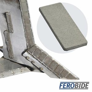 FEROBIDE Weld-on Tile 25mm x 60mm x 4mm Thick (Pk1...