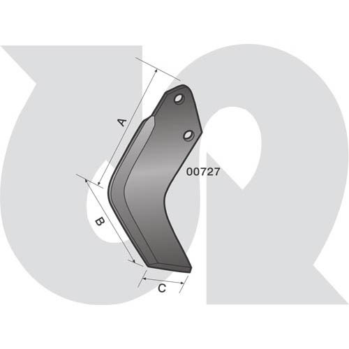 to fit HOWARD/DOWDESWELL (S & M Type Rotorvator Blade) (5729)
