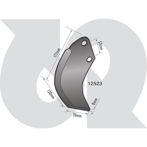 to fit KUHN (Rotovator blade) (7958)