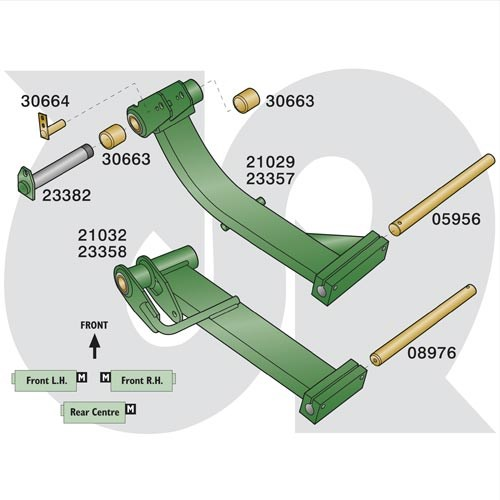 to fit RANSOMES HIGHWAY 2130 (Sport 200 / Magna 250) - Lift Arm Parts (9962)