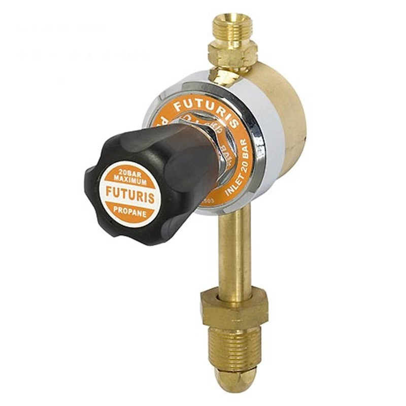 Single Stage Propane Regulator with calibrated spindle