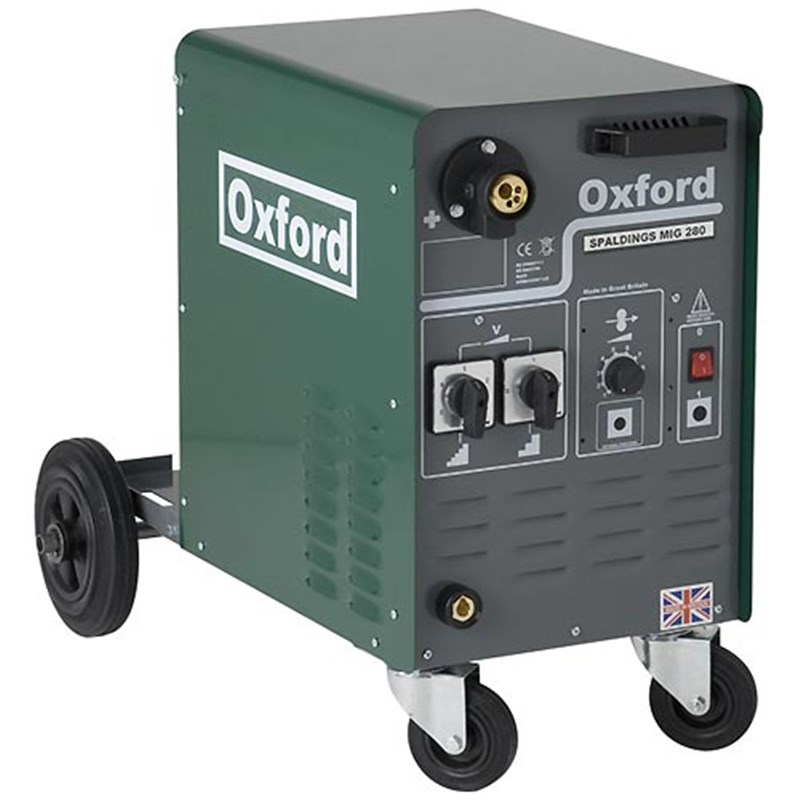 Oxford spaldings 280a 1ph mig welder c w gas regulator for Mig welder wire feed motor not working